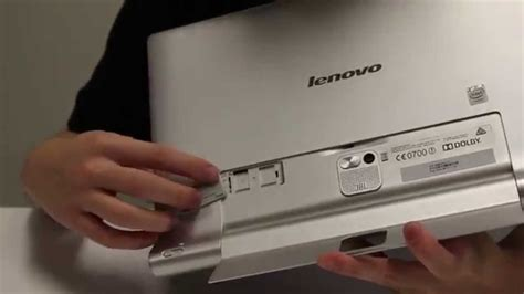 How to insert a MicroSD card into a YOGA Tablet 2 Pro