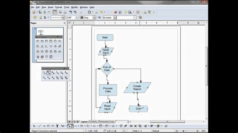 LibreOffice Draw (03) A Simple Flowchart - YouTube