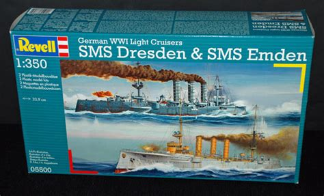 Revell SMS Dresden and SMS Emden 1:350 - Scale Modelling Now