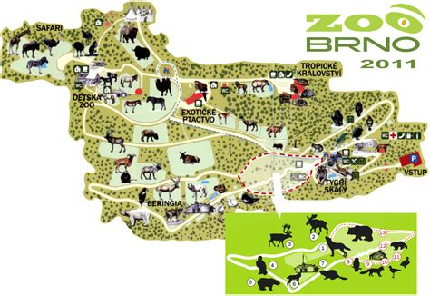 Map of Zoo Brno - 2011