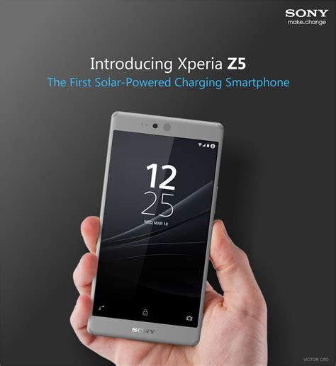 Sony Xperia Z5 Concept features Solar Charging