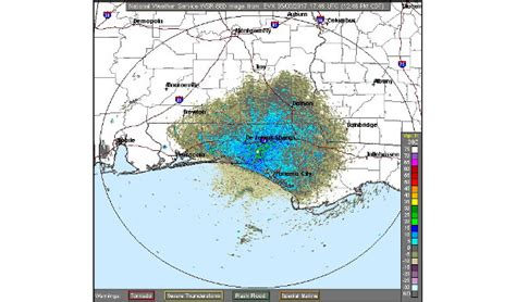 The Gulf Of Mexico Weather Radar for Tallahassee & North