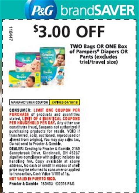 Heads UP! Pampers Coupon up to 3
