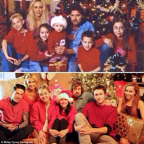 Miley Cyrus and family recreates her awkward childhood