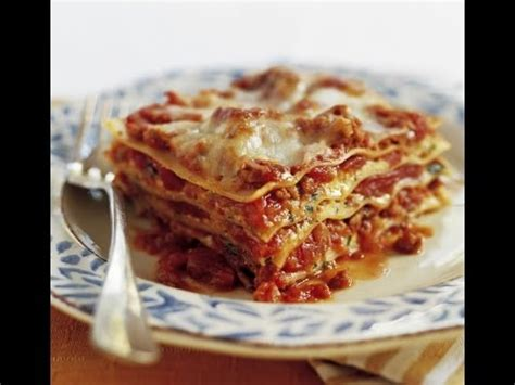 LASAGNA WITHOUT RICOTTA CHEESE - RECIPE (Meat Lasagna) D