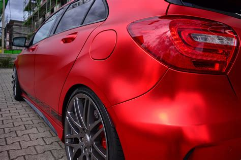 Mercedes-Benz A45 AMG Gets Wrapped in Wonderful Red Matte