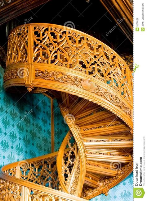 Old spiral stairs stock image