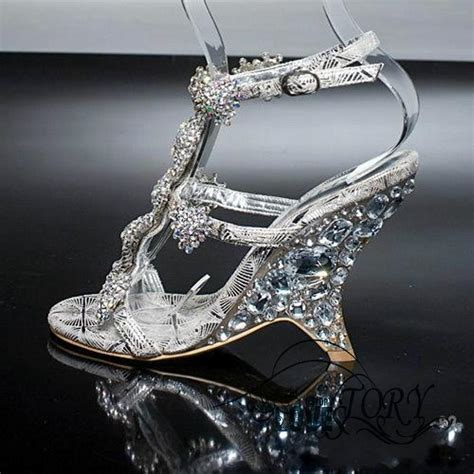 New Diamond Crystal Shoes Sandals With Wedges Princess
