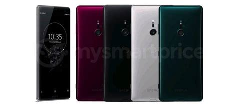 Sony Xperia XZ3 image shows four color options - Android