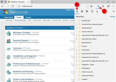 Import Bookmarks from Chrome to Microsoft Edge in Windows