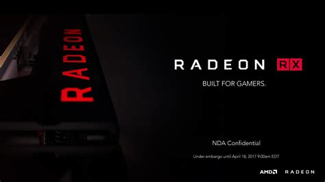 AMD Radeon RX 500 Series Launched - RX 580 and RX 570