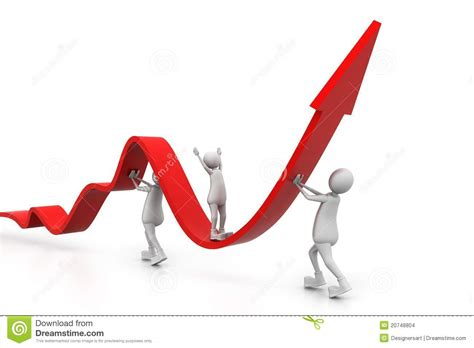 Growing Business Graph With People Stock Illustration